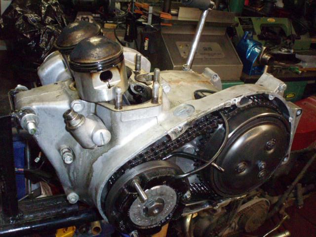 Vintage Motorcycle Cylinder Boring Resleeving Two Stroke